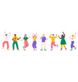 party people dancing women and men festive vector image