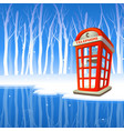 phone booth 03 vector image vector image