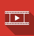 play video icon isolated with long shadow vector image vector image