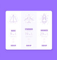 price table chart infographic of pricing vector image vector image