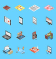reading and library icons set vector image vector image