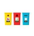 Recycle bins isolated on white flat vector image vector image