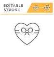 romantic symbol editable stroke line icon vector image vector image