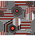 Seamless bright geometric pattern vector image