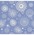 Seamless snow flakes pattern vector image