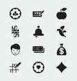 set of 12 editable casino icons includes symbols vector image