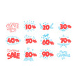 set of season discount shopping tags clipart vector image