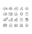 simple set of industrial thin line icons vector image vector image