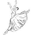 sketch of a dancing ballerina vector image vector image