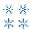 snowflakes signs set blue snowflake icons vector image vector image