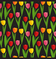 Spring tulip flowers seamless pattern background