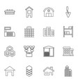 structure icons vector image vector image