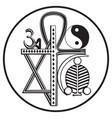 universal religions symbol vector image vector image