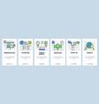 web site onboarding screens business presentation vector image vector image