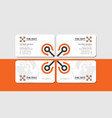 white business card with orange copter vector image