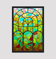 window from a multicolored mosaic vector image vector image