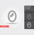 wwall mirror line icon with editable stroke vector image