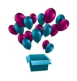 for happy birthday balloons vector image