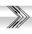 abstract gray metal arrow cyber with black blank s vector image