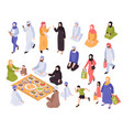 arab family set vector image