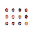 avatar icons vector image vector image