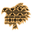 aztec tribal warrior with aztec southwest pattern vector image