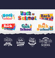 back to school colorful and monochrome stickers vector image vector image