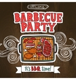 Bbq Grill Party Poster vector image vector image