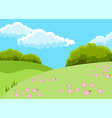 beautiful fields landscape vector image vector image