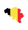 belgium map and flag vector image
