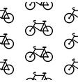 Bike symbol seamless pattern vector image vector image