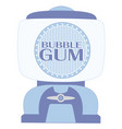 blue bubble gum machine vector image vector image