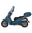 Blue scooter vector image vector image