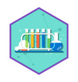 chemical laboratory tubes vector image vector image