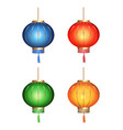 chinese paper lanterns vector image