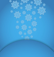 Christmas applique with set snowflakes vector image vector image