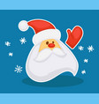 christmas character new year old man with beard vector image