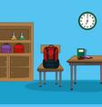 classroom interior cartoon vector image