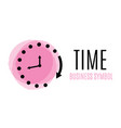 clock icon in trendy flat style isolated on vector image vector image
