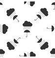 cloud with rain drop on umbrella seamless pattern vector image vector image
