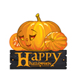 congratulation with Happy Halloween vector image