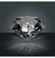 dark gemstone diamond vector image