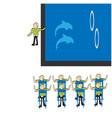 dolphinarium vector image