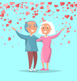 elderly couple send merry greetings valentines day vector image vector image