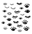 eyes isolated closed eye vector image vector image