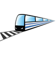 fast train on the rails vector image