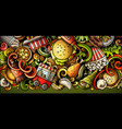 fastfood hand drawn doodle banner cartoon vector image vector image