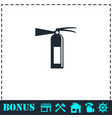 fire extinguisher icon flat vector image vector image
