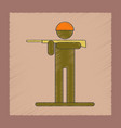 flat shading style icon kids toy soldier vector image vector image