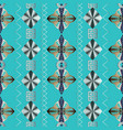 geometric striped seamless pattern blue vector image vector image